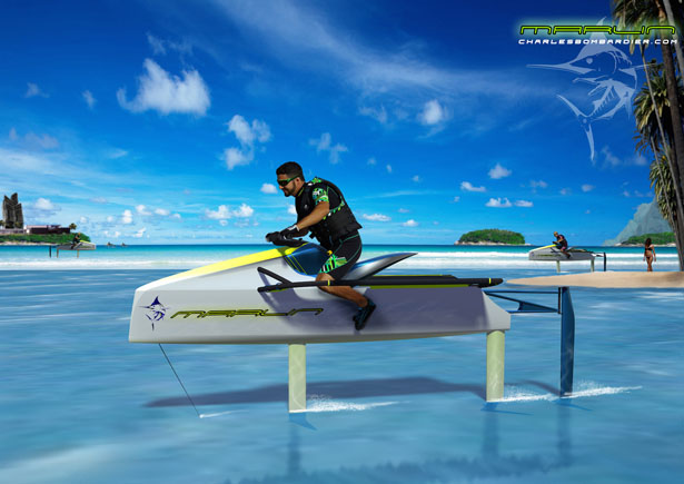 Marlin Electric Personal Hydrofoil by Niklas Wejedal