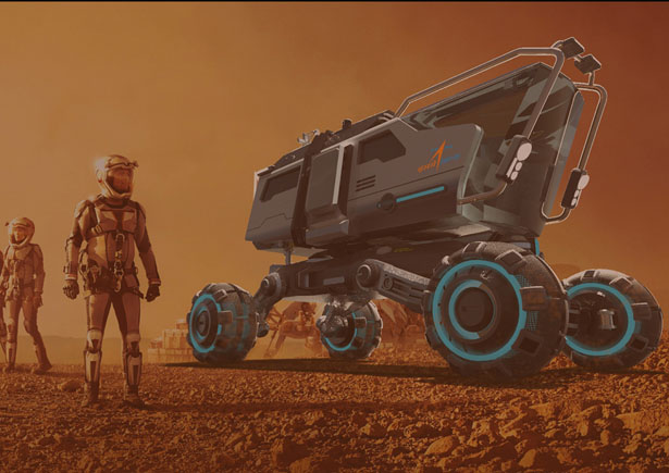 Futuristic Mars Rover For Indian Space Agency (ISRO) in 2040 by Samarjit Waghela