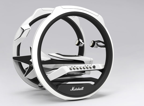 Marshall Dicycle - Two-Wheel Electric Motorcycle by Yuhan Zhang
