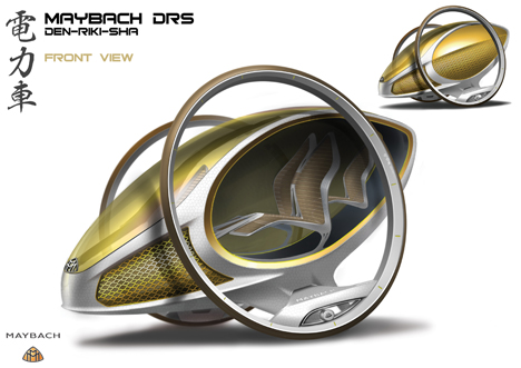 Maybach DRS Den Riki Sha Futuristic Vehicle