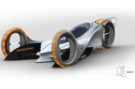 Electric  Photo on Mazda Kaan    Futuristic Electric Car Concept To Compete The E1