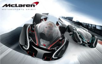 Futuristic McLaren Motorsports Spirit Concept Car for The Year of 2040 and Beyond