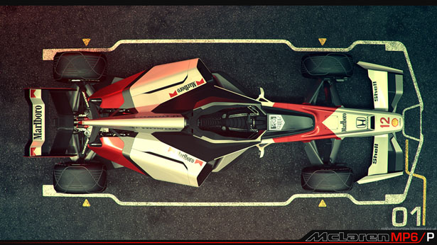 Mclaren MP6/P Concept F1 Car by Nathan Dearsley