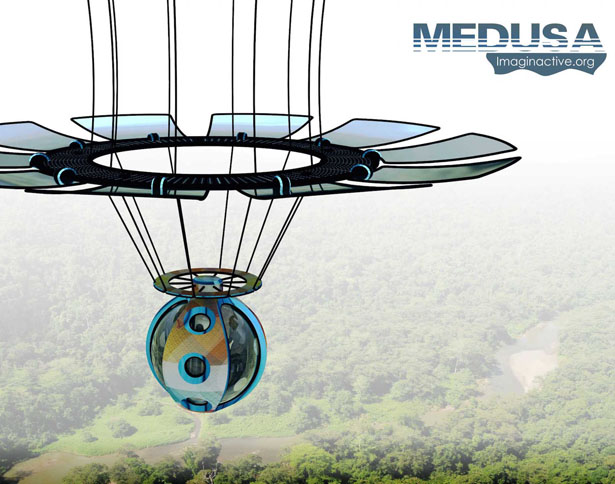 Futuristic Medusa LTA Aircraft by Adolfo Esquivel and Charles Bombardier