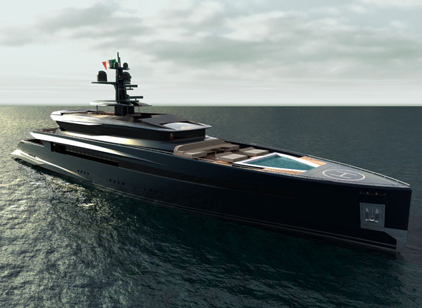 Mega Yacht 60m By PAMA Design And Valerio Romondia