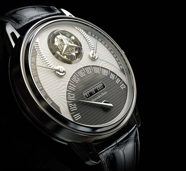 mercedes 320 tourbillon watch is a tribute to mercedes