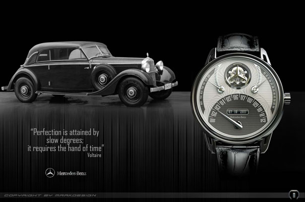 Mercedes 320 Tourbillon Watch is A Tribute to Mercedes Benz 320
