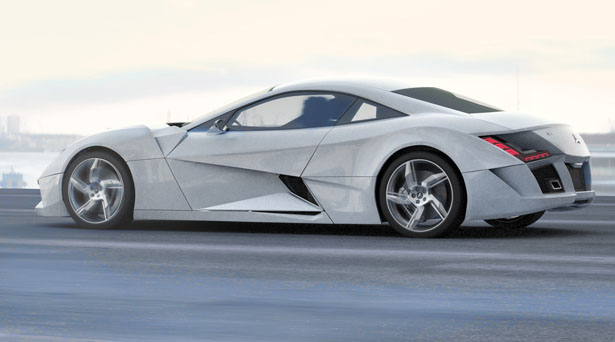 Mercedes Benz SF1 Concept Car by Steel Drake