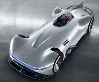 Mercedes-Benz EQ Silver Arrow Electric Car Features Seamless Blend of Intuitive and Physical Design