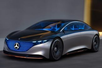 Futuristic Mercedes-Benz VISION EQS Concept Car Features One-Bow Exterior Design for Dramatic Appearance