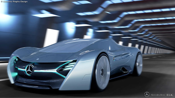 Mercedes Benz ELK Electric Concept Car by Antonio Paglio