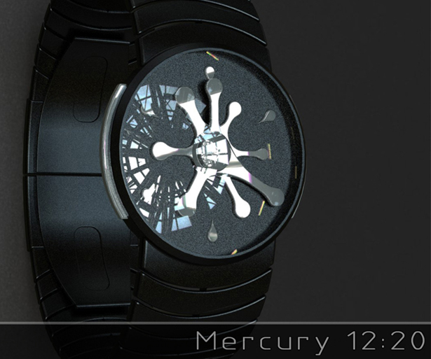 Mercury Analogue Watch by Peter Fletcher