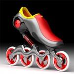 Mercury Skate for Smoother Ride on The Pavement and Decrease The Skater's Fatigue