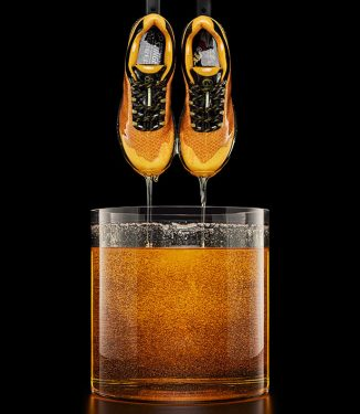 Merrell x Honey Stinger Running Shoes Feature Honeycomb Pattern with Vibrant Golden Hues