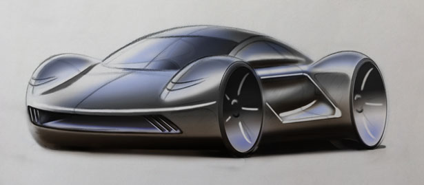 Meson EV Supercar by Ian Webster