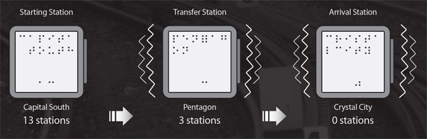 Metro Dot Transport Card for Visually Impaired People by Hoyeuol Lee