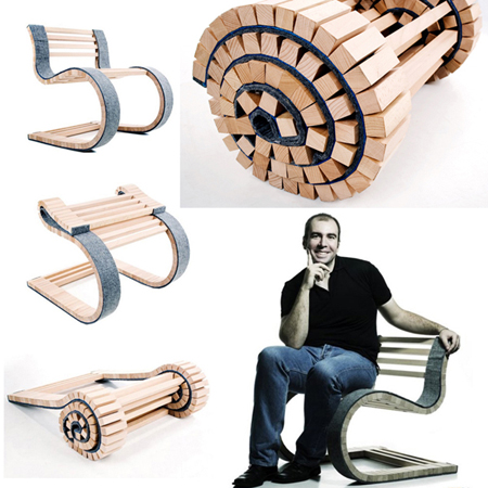 MIESROLO : A Foldable Wood Chair