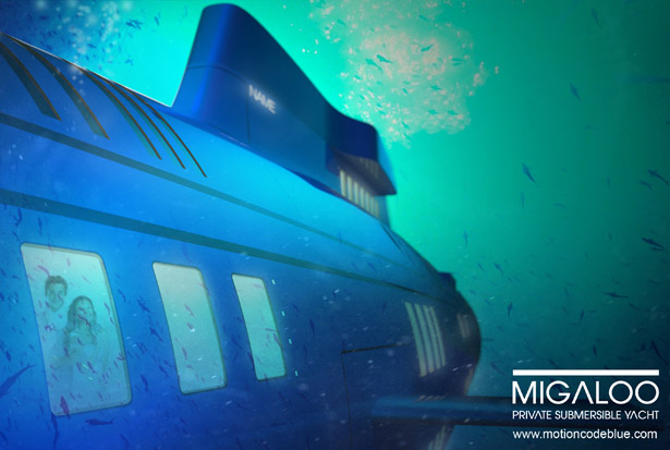 Migaloo-Private Submersible Yacht by Motion Code Blue