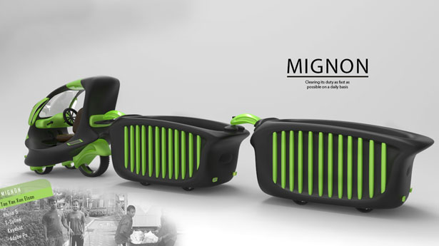 Mignon Trash Carrier by Elson Tan