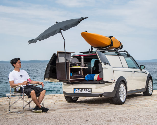 Mini Getaway Cars : MINI Clubvan Camper, MINI Cowley Caravan, and MINI Countryman ALL4 Camp