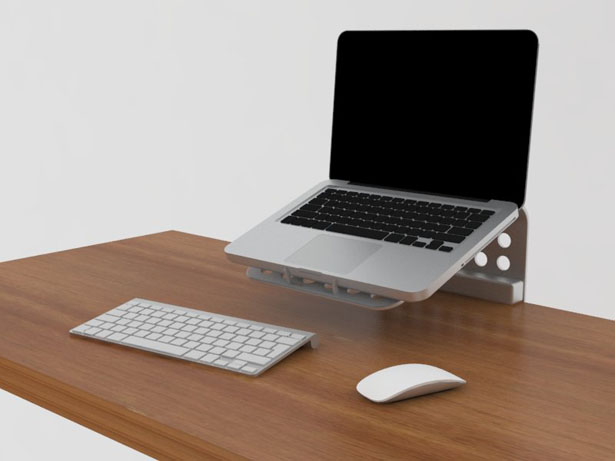 Minimal Footprint Laptop Stand Gives You More Space On