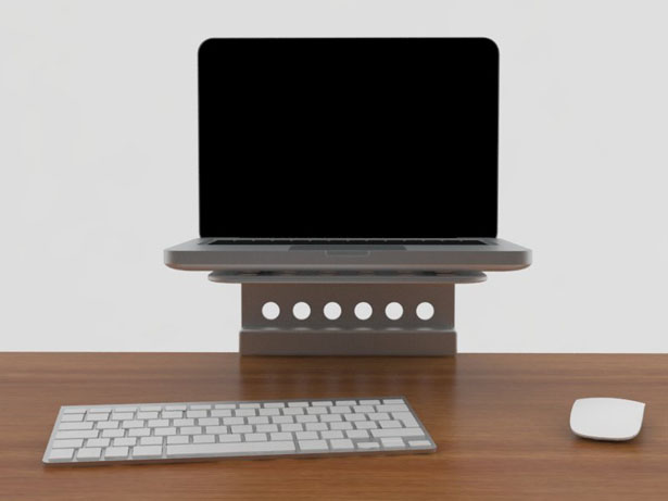 Minimal Footprint Laptop Stand by Ocean Cohen