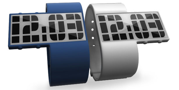 Minimal Silicone E-Ink Wristwatch by Anthony Puleo