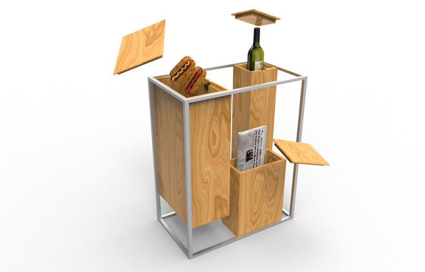 Minimalist Kitchen Bin for Recycling by Jerome Elie