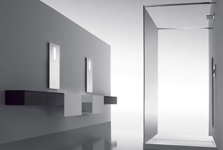minimalist cosmic bathroom