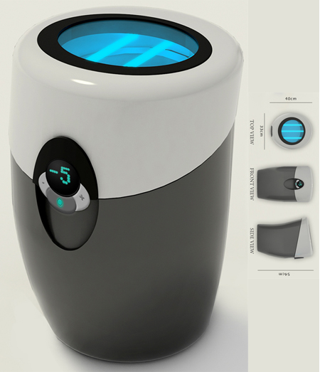 MINUS Garbage Bin Will Remove Bad Smell and Bacteria