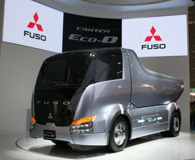 Mitsubishi Fuso Canter Eco D Concept Dump Truck From Tokyo Motor Show 07 on gps for cars and trucks