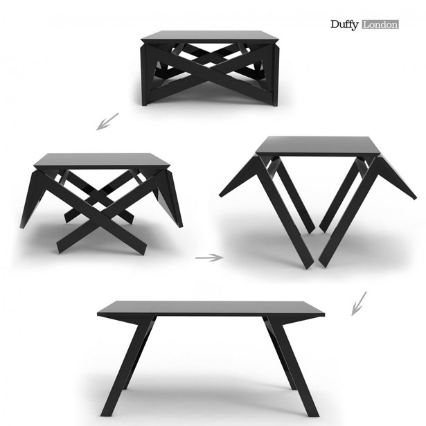 MK1 Transforming Coffee Table Wood by Duffy London