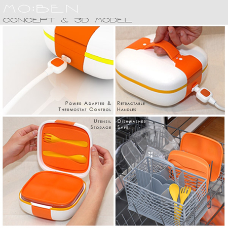 moben portable food container  sc 1 st  Tuvie & MO:BEN is A Portable Food Container That Can Heat-Up Your Food - Tuvie