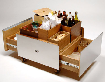 Mobile bar furniture by isay winefield tuvie for Mobile furniture design