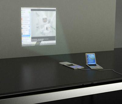Mobile Phone with Projector