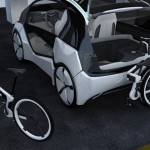 2-Seater Mobility Hybrid Concept Car with Spacious Cabin