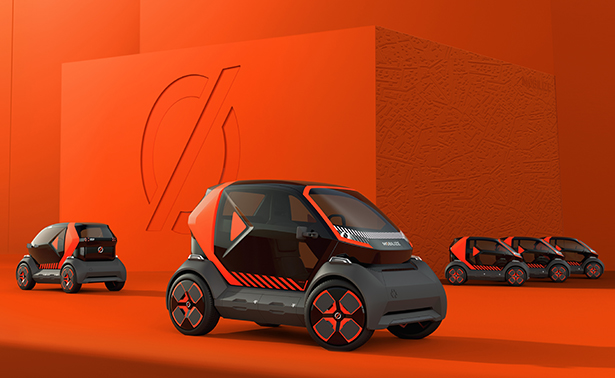 MØBILIZE EZ-1 Prototype Vehicle for Shared Urban Mobility by Renault
