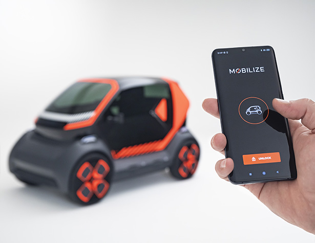 Mobilize EZ-1 Prototype Vehicle for Shared Urban Mobility