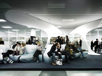 Modern and Futuristic Lounge Design by Tobias Wallisser and Chris ...