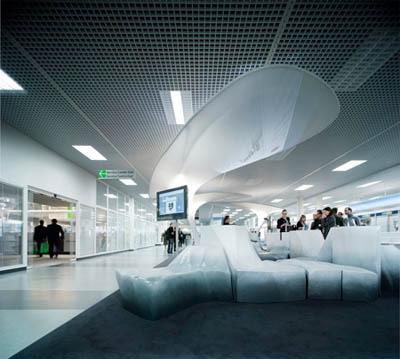 Modern and futuristic lounge design by tobias wallisser for Lounge pictures designs
