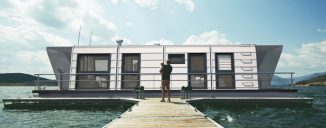 """""""Modul GO"""" Houseboat: Affordable Solution for Life on Water"""
