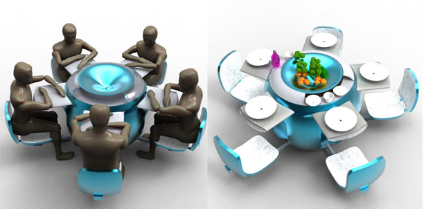 Modular Dining Table by Anoop Joseph