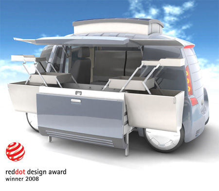 modular electric retail minivan merm