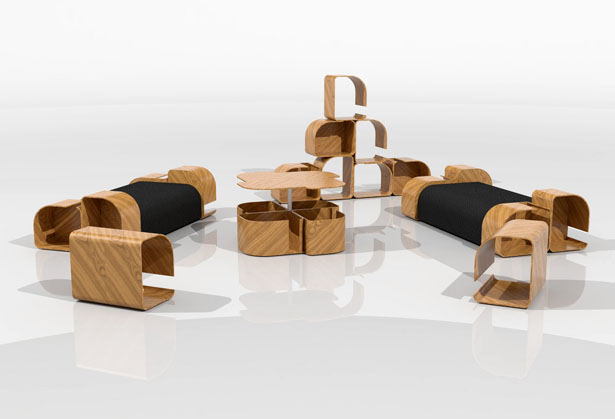 Modular Furniture Design by Krisztián Griz - Tuvie