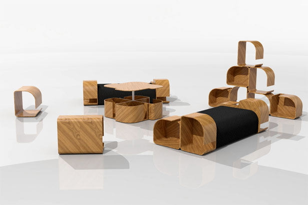 Modular Furniture Design by Krisztián Griz