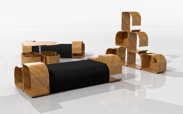 Modular furniture design by kriszti n griz tuvie for Furniture design