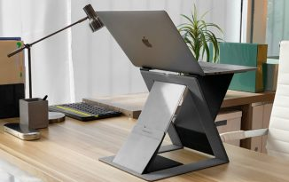 Portable MOFT-Z Invisible Sit-Stand Laptop Desk for a Healthy Sit-Stand Working Style