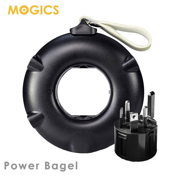 MOGICS Bagel - a Pocket Sized Universal Travel Power Strip