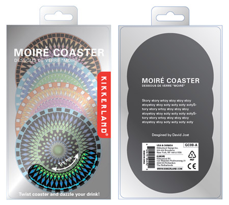 moire coaster packaging