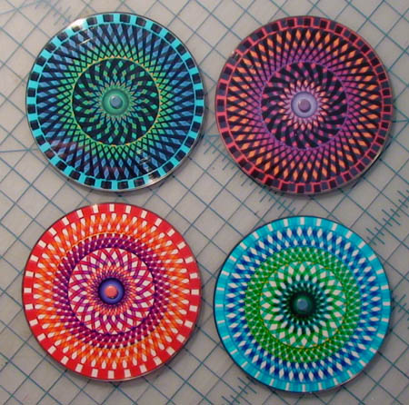 moire coaster set
